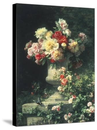 Peonies and Roses-Madeleine Lemaire-Stretched Canvas Print