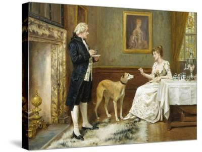 The Favourite-George Goodwin Kilburne-Stretched Canvas Print