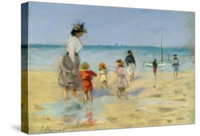 Going for a Paddle-Emile Cagniart-Stretched Canvas Print