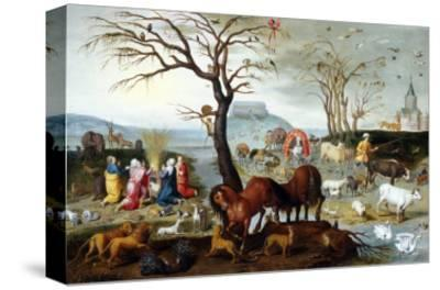 Noah's Ark: The Animals Leave the Ark-Jacob Bouttats-Stretched Canvas Print