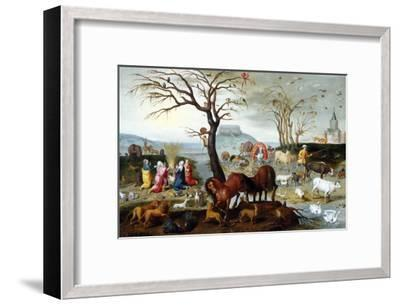Noah's Ark: The Animals Leave the Ark-Jacob Bouttats-Framed Giclee Print