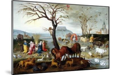 Noah's Ark: The Animals Leave the Ark-Jacob Bouttats-Mounted Giclee Print