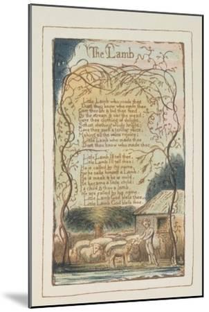 Songs of Innocence-William Blake-Mounted Giclee Print