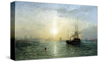 Evening on the Thames-Francis Danby-Stretched Canvas Print