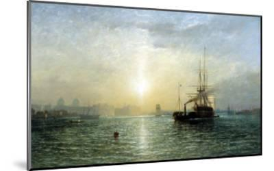 Evening on the Thames-Francis Danby-Mounted Giclee Print