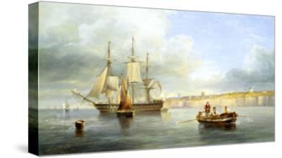 Calm Sea-John Wilson Carmichael-Stretched Canvas Print