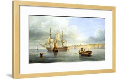 Calm Sea-John Wilson Carmichael-Framed Giclee Print