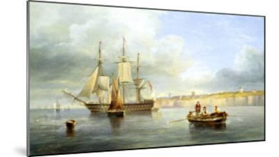 Calm Sea-John Wilson Carmichael-Mounted Giclee Print