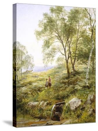 Springtime in Wales-Benjamin Williams Leader-Stretched Canvas Print