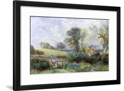 At the Pond-Myles Birket Foster-Framed Giclee Print