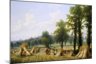View of Harvesting near Warwick-Thomas Baker-Mounted Giclee Print