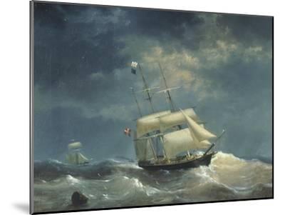 Sailing Ship at Sea-Egidius Linnig-Mounted Giclee Print