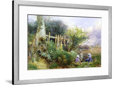 Gathering Primroses-Myles Birket Foster-Framed Giclee Print