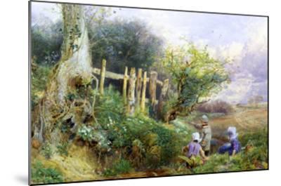 Gathering Primroses-Myles Birket Foster-Mounted Giclee Print