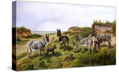 Family Friends-Charles Jones-Stretched Canvas Print
