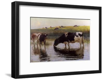 At the Drinking Place-Henry Bisbing-Framed Giclee Print