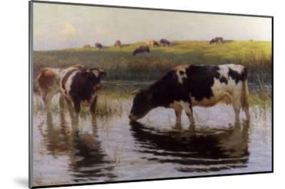 At the Drinking Place-Henry Bisbing-Mounted Giclee Print