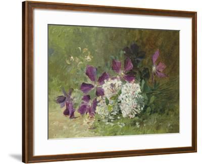 Clematis and Honeysuckle-Albert Tibulle de Furcy Lavault-Framed Giclee Print