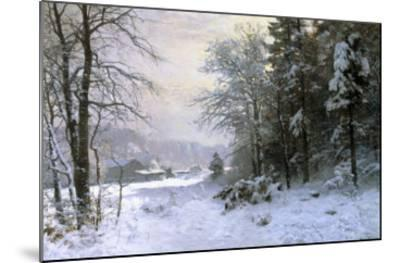 Late Lies the Winter Sun-Anders Andersen-Lundby-Mounted Giclee Print