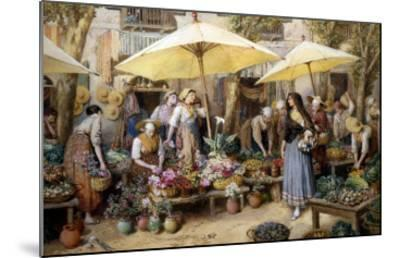 Toulon Market, France-Myles Birket Foster-Mounted Giclee Print