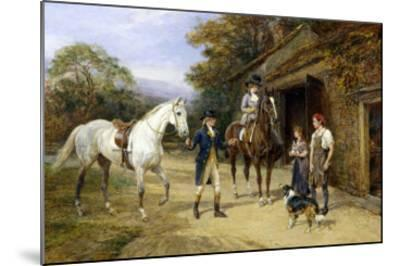 Casting a Shoe at the Blacksmith's-Heywood Hardy-Mounted Giclee Print