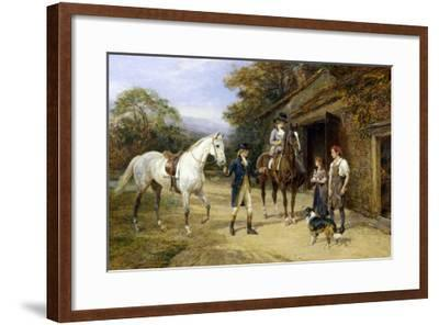 Casting a Shoe at the Blacksmith's-Heywood Hardy-Framed Giclee Print