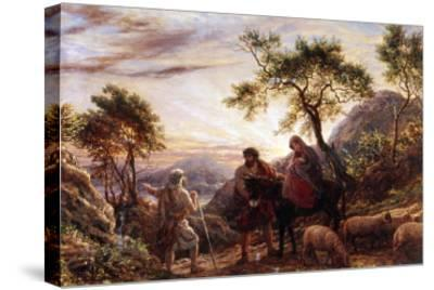Flight Into Egypt-James Thomas Linnell-Stretched Canvas Print