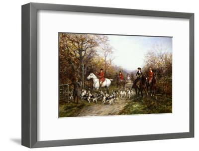 Going Through the Copse-Heywood Hardy-Framed Premium Giclee Print