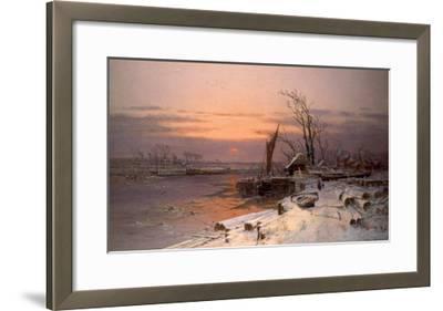 On the Estuary-Charles Brooke Branwhite-Framed Giclee Print