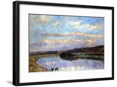 On the Banks of the Dardent at Veullettes-Albert-Charles Lebourg-Framed Giclee Print
