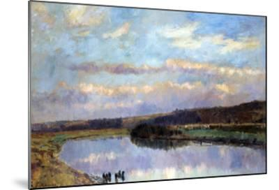 On the Banks of the Dardent at Veullettes-Albert-Charles Lebourg-Mounted Giclee Print