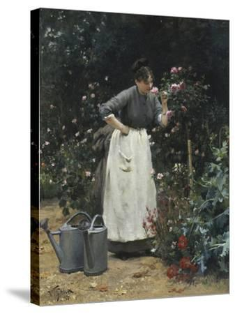 In the Rose Garden-Victor Gilbert-Stretched Canvas Print