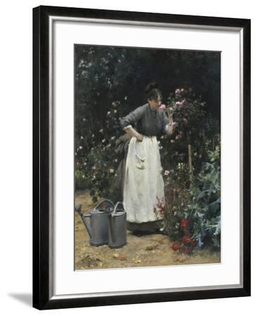 In the Rose Garden-Victor Gilbert-Framed Giclee Print