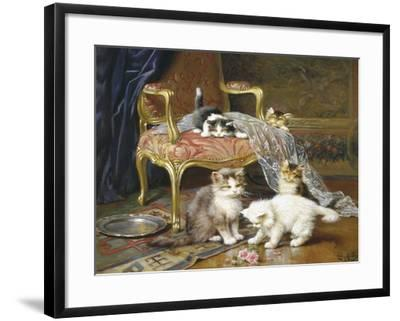 Mischief Makers-Leon Charles Huber-Framed Giclee Print