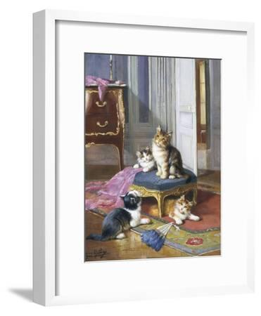 Mischief in the Air-Leon Charles Huber-Framed Giclee Print