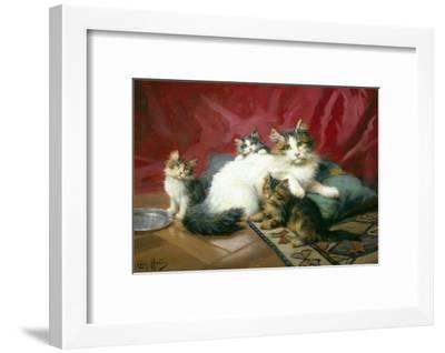 Cosy Family-Leon Charles Huber-Framed Giclee Print