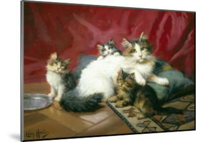 Cosy Family-Leon Charles Huber-Mounted Giclee Print