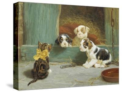 Just Good Friends-John Dollman-Stretched Canvas Print