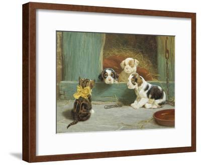 Just Good Friends-John Dollman-Framed Giclee Print
