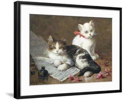 Young Feline Author-Leon Charles Huber-Framed Giclee Print