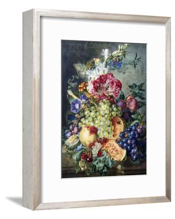 Fruit and Flowers-Gerrit Jan Van Leeuwen-Framed Giclee Print