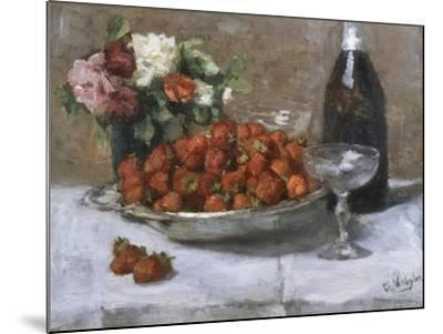 Still Life with Champagne and Strawberries-Isidor Verheyden-Mounted Giclee Print