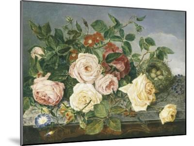 Still Life of Roses and Morning Glory-Eloise Harriet Stannard-Mounted Premium Giclee Print