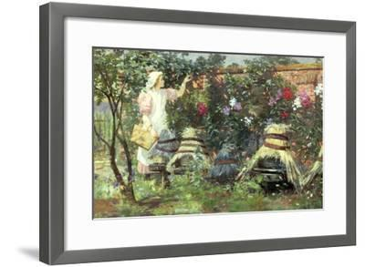 Picking Fruit in a Suffolk Garden-Lexden Lewis Pocock-Framed Giclee Print