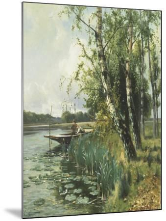 Fishing from a Punt-Arthur Walker Redgate-Mounted Giclee Print