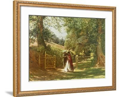 The Lovers' Tryst-Richard Redgrave-Framed Giclee Print