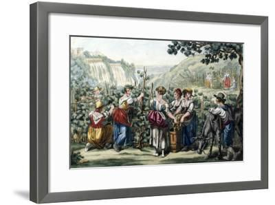 The Grape Harvest-Bartolomeo Pinelli-Framed Giclee Print