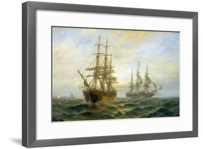 Frigate Outward Bound off Shoeburyness-Claude T^ Stanfield Moore-Framed Giclee Print