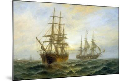 Frigate Outward Bound off Shoeburyness-Claude T^ Stanfield Moore-Mounted Giclee Print