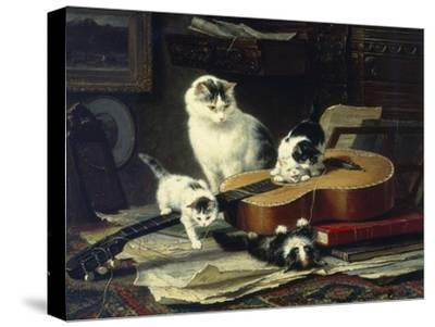 The Musical Cats-Henriette Ronner-Knip-Stretched Canvas Print